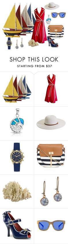 """nautical"" by marytomary on Polyvore featuring Authentic Models, Bling Jewelry, Melissa Odabash, GUESS, Call it SPRING, Chart Metal Works, Funtasma and Etnia Barcelona"