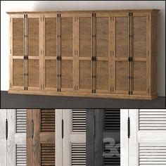 3d models: Wardrobe & Display cabinets - Walk-in wardrobe eight-door SHUTTER DREW