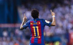 Download wallpapers Neymar, Barcelona, Brazilian football player, La Liga, football, Neymar da Silva Santos