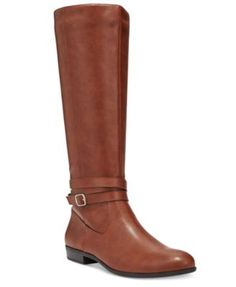 Style & Co. Fridaa Wide-Calf Boots, Only at Macy's $47.70 A classic riding boot with strap and buckle details, Style & Co.'s Fridaa wide calf boots take you from day to night in timeless fashion.