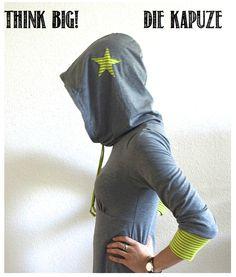 Milchmonster - Freebooks - Kapuze für Rundhaltsshirt inkl. Schnitt & Anleitung