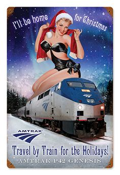 I'll Be Home for Christmas Pin-Up Metal Sign