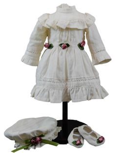 1930's Part Dress and Accessories, Doll Clothes For 18'' Dolls like American Girl®