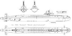 pr 955 Borey, Yuri Dolgorukiy schematic