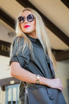 66d5a55321 Make your mark in Miu Miu s Retro Round Sunglasses.  SaksStyle Eat Sleep  Wear