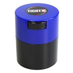 Tightpac America 3-Ounce Vacuum Sealed Dry Goods Storage Container, Black Body/Dark Blue Cap