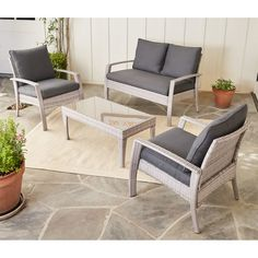 Found it at Wayfair - Elemental 4 Piece Deep Seating Group with Cushion