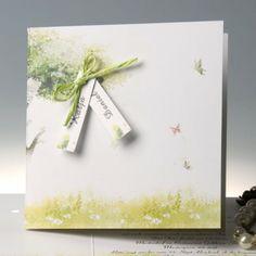 Faire Part de Mariage Original Vert Rêve de Papillons JM106 faire part de mariage pas cher, sur mesure - joyeuxmariage.fr