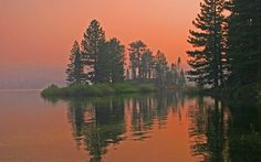 Wildfires kept an eerie glow... At Silver Lake, California Yosemite National Park, National Parks, Mount Whitney, California Wildfires, Brand New Day, Silver Lake, Sierra Nevada, Fire Engine, Mountain Range