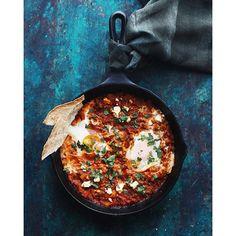 Shakshuka With Curry, Lamb & Toasted Bread via @feedfeed on…