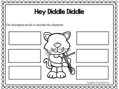 Hey Diddle Diddle - Nursery Rhyme This interactive nursery rhymes resource promotes phonemic awareness, rhyming skills, oral language, and literacy skills! With Pre-Kindergarteners, Kindergarteners, 1st graders & homeschoolers in mind, this engaging resource is ideal for your literacy and poetry centers. Great for guided reading & intervention work as well!{Pre-K, K, 1st}