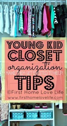 Kids Closet Organization Advice via www.firsthomelovelife.com