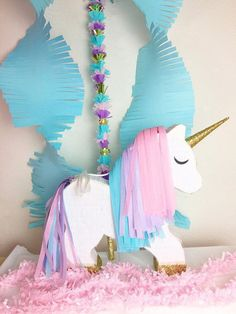 This is Unicorn Unicorn Themed Birthday, Girl Birthday, Party Decoration, Birthday Decorations, Unicorn Pinata, My Little Pony Party, Unicorn Crafts, Baby Party, First Birthday Parties