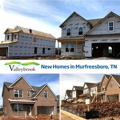 Construction is in full swing at the newest community in Murfreesboro - Valleybrook! Call today to schedule your VIP tour! 615-236-8076
