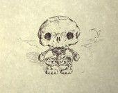 Hello Kitty Skeleton. $57.00, via Etsy.