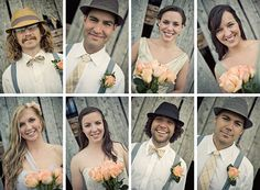 Pictures of the wedding party individually!