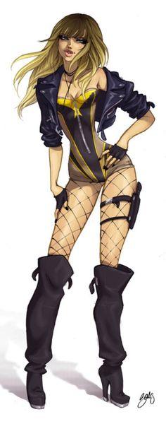 Black Canary/Silk Spectre II mash up Comic Books Art, Comic Art, Book Art, Babs Tarr, Dinah Drake, Dc Batgirl, Silk Spectre, The Wicked The Divine, Arrow Black Canary