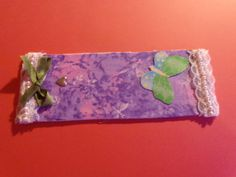 1 Bookmark, handmade, from matt board, with fabric and embellished them mailed to you~ Updated photos upload Today!