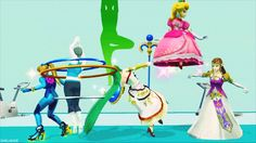 flanoirbunny: but-my-adventures-tho: am I supposed to be laughing at how wii fit trainer just hula hoops out of existence or the fact that Palutena is pole dancing wii fit trainer is ascending into a higher plane of existence like the ethereal being she is show some respect