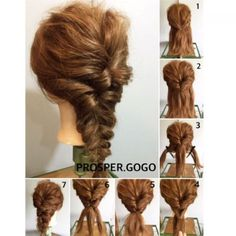 クルリンパを2回して、三つ編みするだけのダウンスタイル♡ how two... ①耳上の髪を全て結びます。 ②①をクルリンパ。 ③襟足を左右に分けて、 ④①の上になる様に結びます。 ⑤④もクルリンパ。 ⑥毛先を三つ編みして、結んだら完成です♪