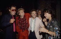 Van Halen ❤️ 1986 Alex and Eddie Van Halen  Sammy Hagar and Michael Anthony