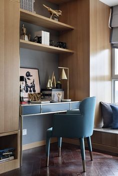 Master built in desk/vanity with built in closets Modern Home Interior Design, Home Office Design, House Design, Office Style, Home Office Closet, Office Nook, Closet Desk, Bedroom Built Ins, Built In Desk