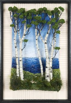 Martina Celerin Dimensional Weavings - this woman does fantastic work! Weaving Wall Hanging, Weaving Art, Tapestry Weaving, Loom Weaving, Embroidery Art, Cross Stitch Embroidery, Embroidery Patterns, Art Textile, Textile Artists