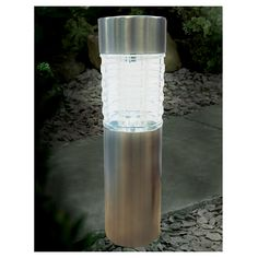 Merveilleux Solar Garden Lights. Cole U0026 Bright Bollard With Glass Lens Stainless Steel    Masters Home
