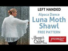Aplaca Dance Luna Moth Shawl Free Crochet Pattern - Left Handed