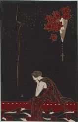 Woman Pondering from the series Flowers of Darkness (Yami no hana)