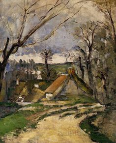 The Cottages of Auvers by Paul Cezanne