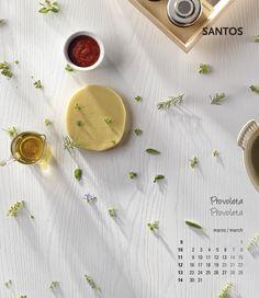 Calendario 2015 #cocinaconSantos. En MARZO te invitamos a experimentar y disfrutar con la elaboración de esta receta de Provoleta de #kanelaylimon. Para ver la preparación ir al link de la foto