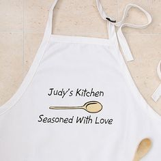 The apron is the crown of the kitchen. Dress up your favorite cook with one that sports a personalized message. (personalizationmall.com, $22.95)