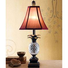 Cut Resin Pineapple Table Lamp