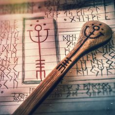 Kitchen Witchery: Practical #kitchen #magick. These staves on kitchen utensils help focus and achieving the best possible end result for recipes.