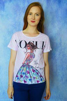 T-shirt Koszulka damska z nadrukiem z motywem magazynu Vogue | Dariza www.dariza.pl Sklep Dariza Stworzona By inspirować