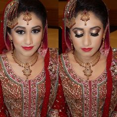 South Asian Bridal look Hair and make up by