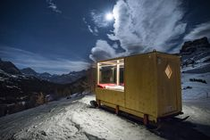 Dolomite Starlight Room... climate controlled and affixed to skis!  Take it anywhere a snowmobile can go.