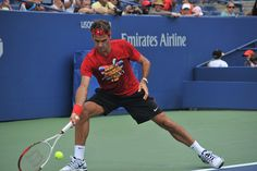 US OPEN 2012   /   Roger Federer at L. Armstrong Stadium    -     USTA National Tennis Center,  Flushing Queens NYC    -   08/25/12 by asterix611, via Flickr