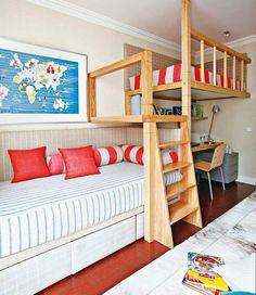 Jurnal de design interior - Cameră copii cu pat supraetajat