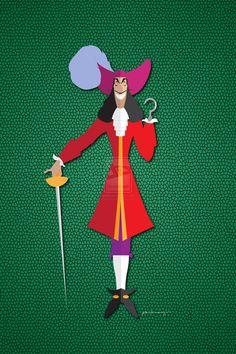 Disney Villain - Origami Captain Hook by AmadeuxWay on deviantART