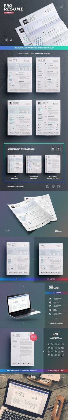 Clean Resume Cv Vol 1 by The Resume Creator on @creativemarket - resume creater