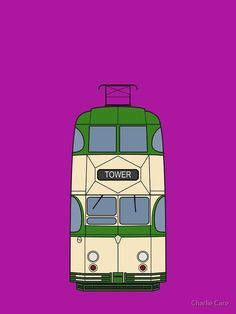"""""""Blackpool Balloon Tram"""" iPhone Case & Cover by careful-design Train Drawing, Light Rail, Blackpool, Iphone Case Covers, Iphone 11, Balloons, Design, Art, Poster Vintage"""