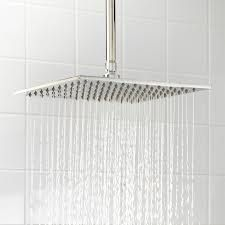 "12 "" rain shower head - $129.95 Signature Hardware"