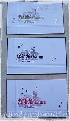 cartes anniversaires