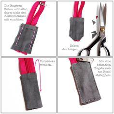 Wie versprochen, eine kleine Anleitung zum Einnähen eines Reißverschlusses in eure Eve....das ist für die große Taschenvariante. Ev...