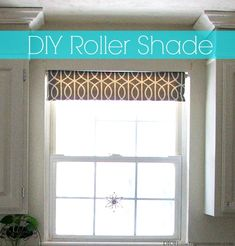 *NO SEW* DIY Fabric Roller Shade: A very inexpensive but BEAUTIFUL window treatment solution! | Dio Home improvements for www.firsthomelovelife.com