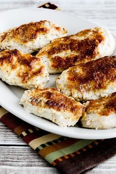 I saw variations of this Low-Carb Baked Mayo-Parmesan Chicken with rave reviews all over the internet, so here's my version of this dish that the internet feels is the best baked chicken! And this tasty chicken is also Keto, low-glycemic, gluten-free, and can be South Beach Diet friendly. Use theRecipes-by-Diet-Type Indexto find more recipes like…