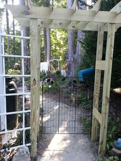 Step by step for building this free standing pergola/arbor. You can use longer 2x4s if you want to cement in ground if you are in a windy area. It is heavy enou…