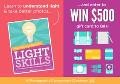 Enter this giveaway for a chance to win a $500 Gift Card to B&H Photo!